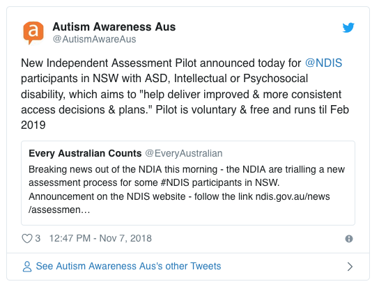 Advocates Caution Against Autism >> Disability Groups Cautious Over Ndis Independent Assessment Pilot