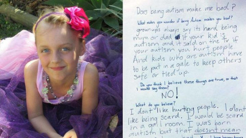 Autistic girl pens heartwarming letter to mother from