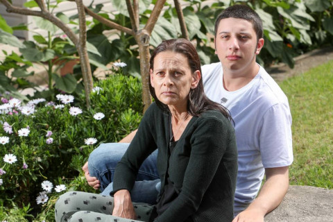 mother and autistic son